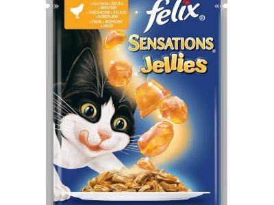 Hrana umeda pentru pisici FELIX, Pui si Morcov, Plic 100g
