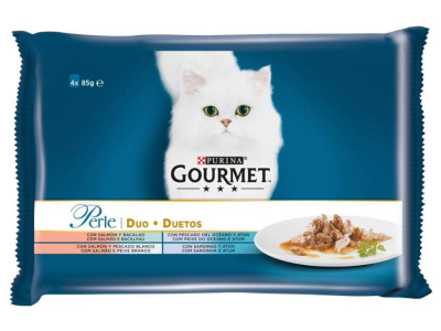Hrana umeda pentru pisici Gourmet Marin, Pliculete 4x85g