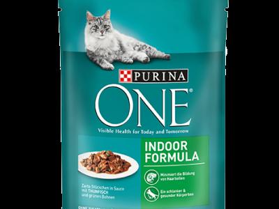 Hrana umeda pentru pisici PurinaOne, Ton si Fasole, Plic 85g